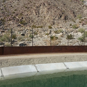 Natina Products Silver Rock Concrete Wall Staining Project