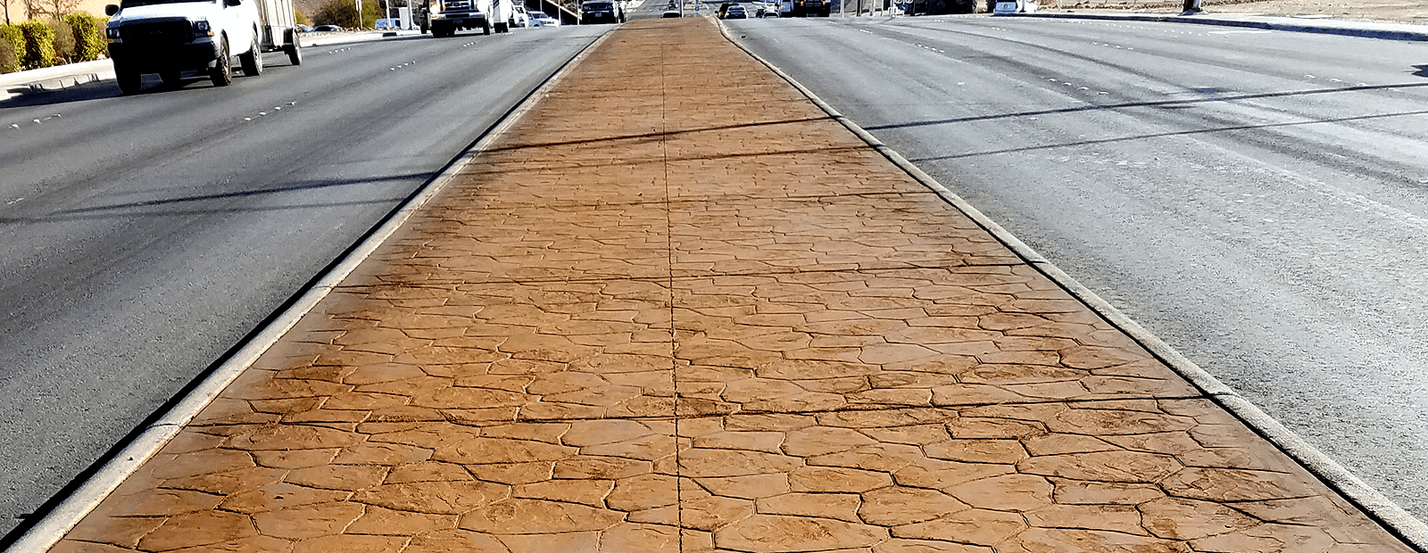 Color Treated Concrete Surface