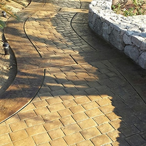 Stamped Concrete Staining Landscape Project by Natina Products