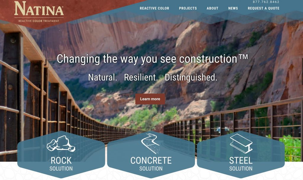 Natina Reactive Color New Home Page
