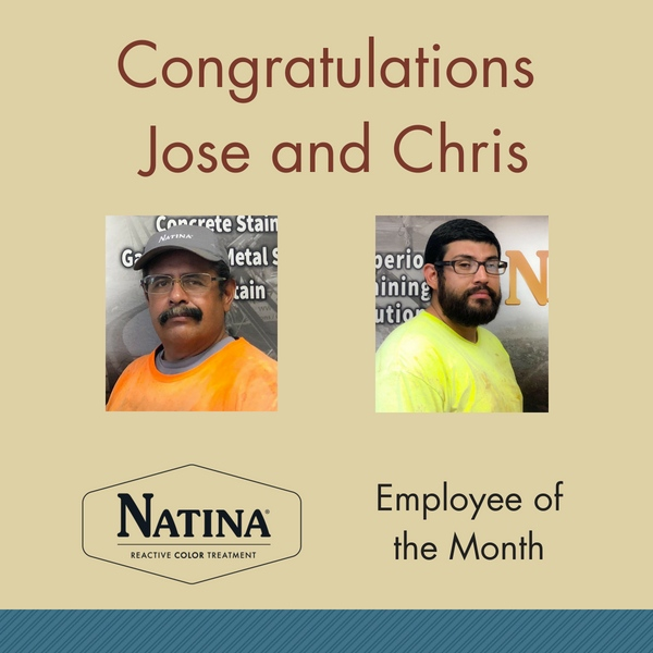 Jose and Chris - Natina Employee of the Month