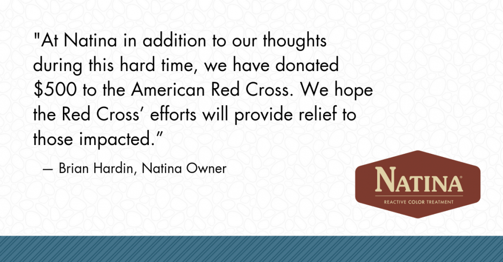 Brian Hardin, Natina Owner, quote about the wildfires in California