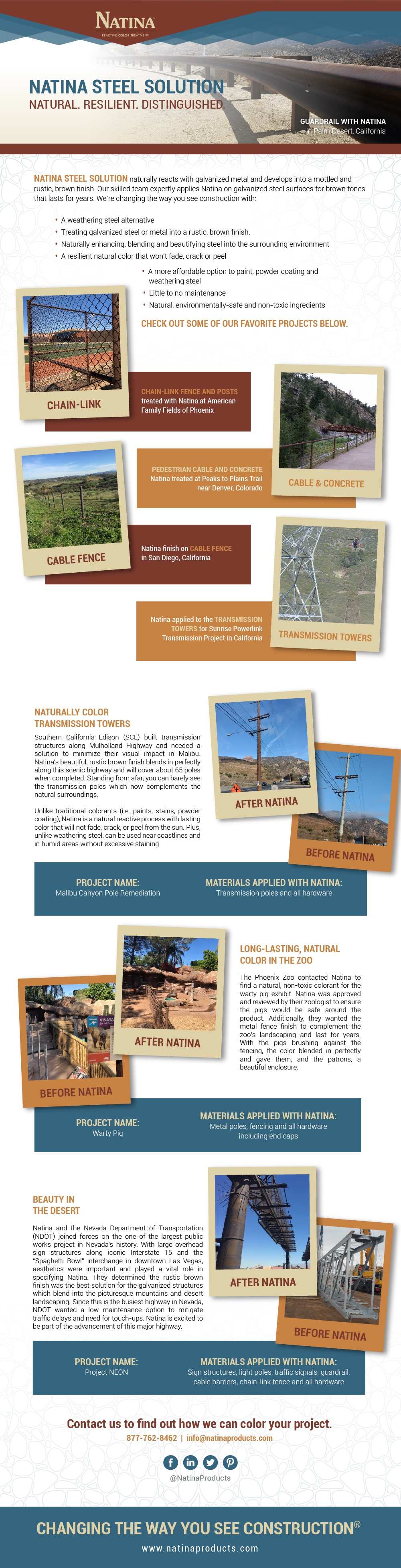 Natina Color Solutions Infographics
