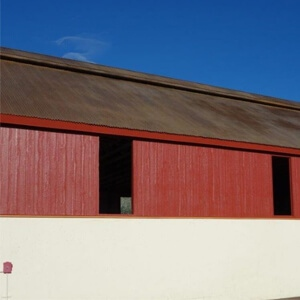 Natina Stain Solutions on Metal Roof